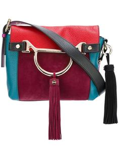 colour block tassel shoulder bag Borbonese