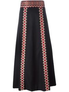 embroidered geometric detailing skirt Vilshenko