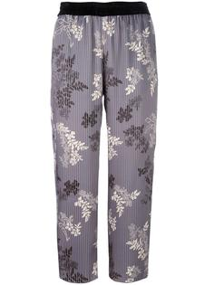 floral print striped trousers Forte Forte
