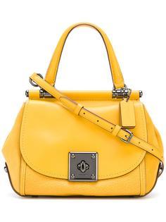 сумка -тоут с поворачивающимся замком Coach