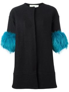 fur sleeves coat  Ava Adore