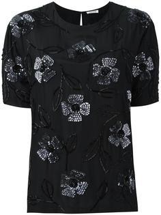 блузка с цветочной аппликацией P.A.R.O.S.H.