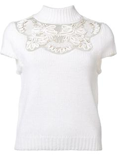 lace detail knitted top Alice+Olivia