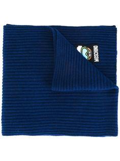 шарф ребристй вязки Moschino