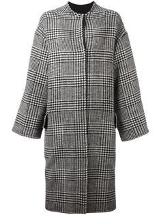 houndstooth pattern coat Ava Adore
