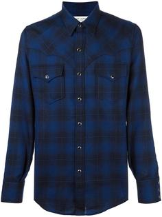 классическая рубашка в ковбойском стиле Saint Laurent