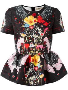 floral print blouse Piccione.Piccione