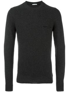 contrast cable knit jumper Paolo Pecora