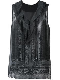 ruffle neck blouse Kobi Halperin