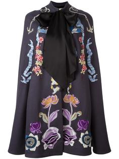 кейп с вышивкой Temperley London