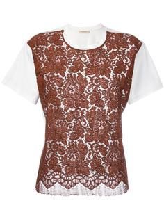 футболка с кружевной панелью Erika Cavallini
