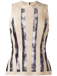 striped lace embroidery blouse Christopher Kane