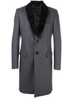 пальто с меховым воротником Fendi