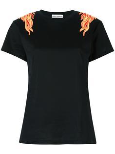 футболка с нашивками пламени Paco Rabanne
