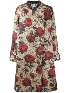 объемное пальто с цветочным узором Ermanno Gallamini