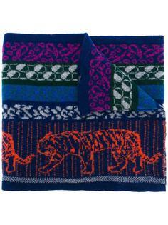 шарф с принтом-интарсий тигров Ps By Paul Smith