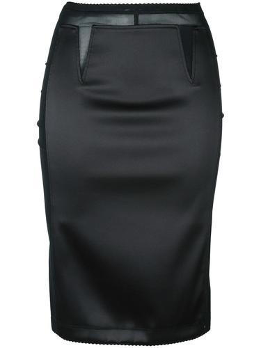 полупрозрачная юбка-карандаш  Paco Rabanne