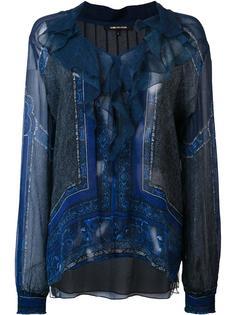 paisley print semi sheer blouse Kobi Halperin