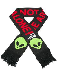 шарф с принтом пришельца Love Moschino