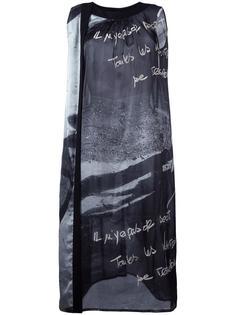printed sleeveless dress Yohji Yamamoto Vintage