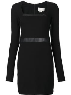 belted fitted dress Nicole Miller