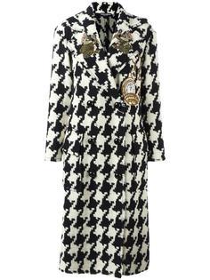 пальто в ломаную клетку с заплаткой 'Wonderland' Dolce & Gabbana