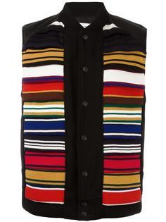 contrast stripe vest Facetasm