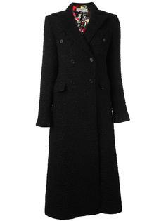 long tweed coat Piccione.Piccione