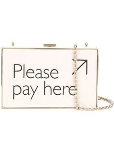 клатч-футляр 'Please Pay Here'  Anya Hindmarch