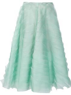 юбка 'Tiered Textured Organza' Carolina Herrera