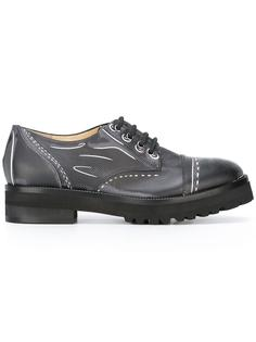 trompe-l'oeil Derby shoes Moschino