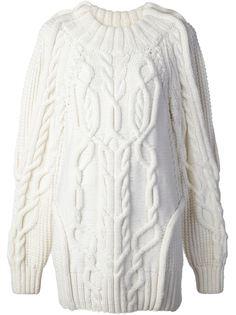 свитер вязки 'косичка' Vera Wang