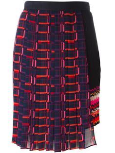 asymmetric pleated skirt  Steve J & Yoni P