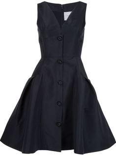 платье c V-образным вырезом   Carolina Herrera