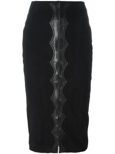 high-rise velvet effect skirt Alaïa Vintage