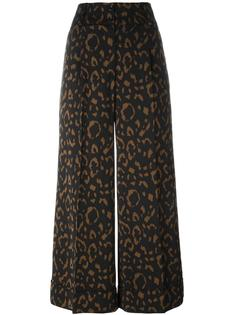 jacquard wide leg cropped trousers Blumarine