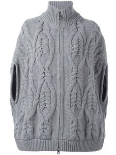cable knit zipped jacket Fay