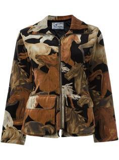 horse print jacket Kenzo Vintage