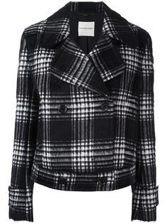 plaid double-breasted jacket Emanuel Ungaro
