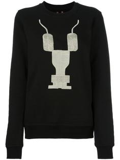 embroidered logo sweatshirt Rick Owens DRKSHDW