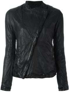 rumpled effect biker jacket Giorgio Brato