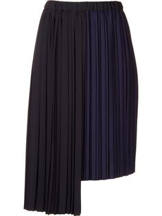 asymmetric pleated skirt Astraet