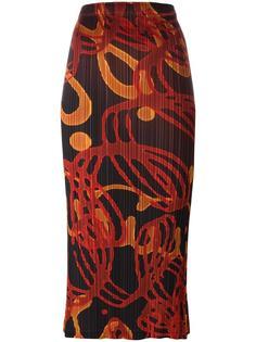 плиссированная юбка-миди Pleats Please By Issey Miyake