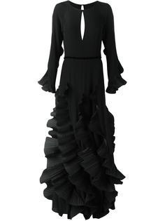 вечернее платье с оборками Capucci