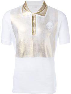 футболка-поло с принтом черепа Alexander McQueen