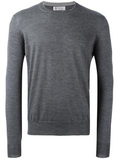 пуловер с круглым вырезом Brunello Cucinelli