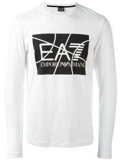 logo print slim-fit sweatshirt Ea7 Emporio Armani