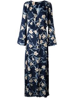 платье макси с цветочным узором Twin-Set