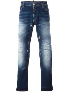 distressed straight-leg jeans Philipp Plein