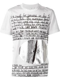 футболка с письменным принтом Juun.J